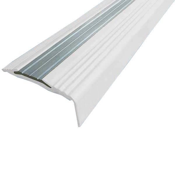 Противоскользящий алюминиевый угол-порог NoSlipper 2,7 м белый