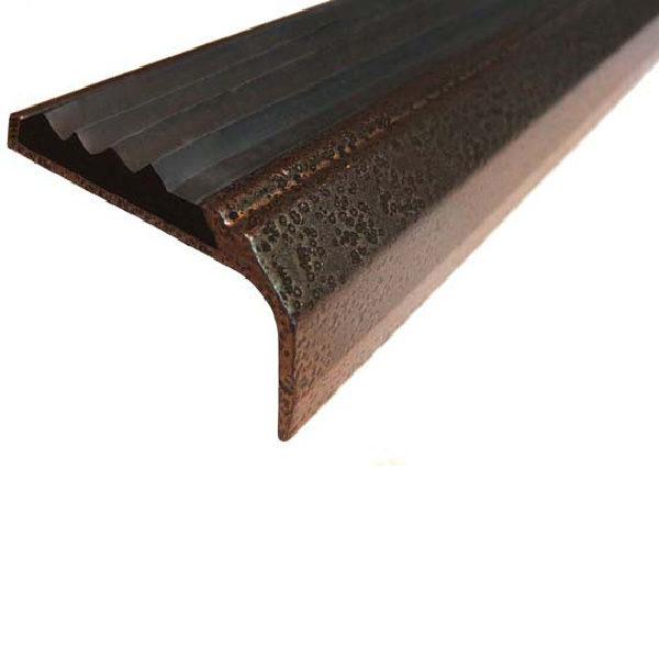 Противоскользящий алюминиевый окрашенный накладной угол-порог 42 мм/23 мм 1 м медь