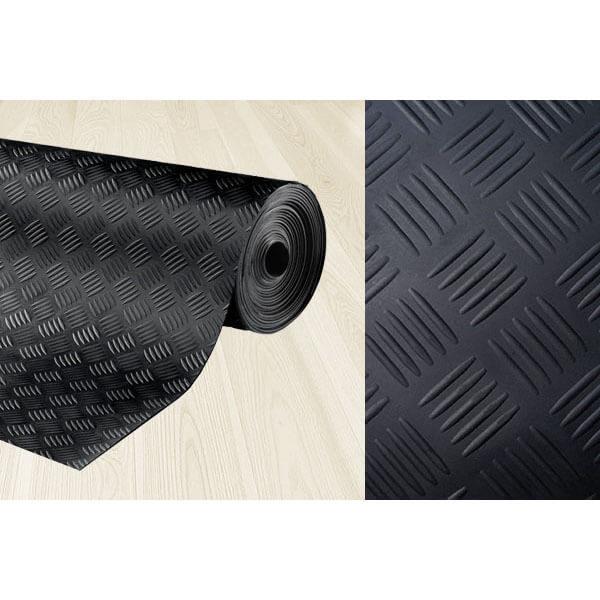 Рулонное резиновое покрытие 3мм, 1.5 м, длина 5 м, шашки