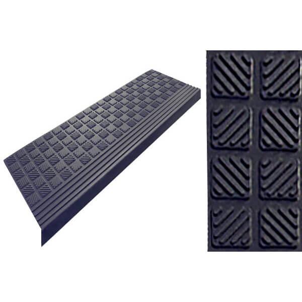 Накладка на ступени резиновая антискользящая 650x250x3 мм, RST007