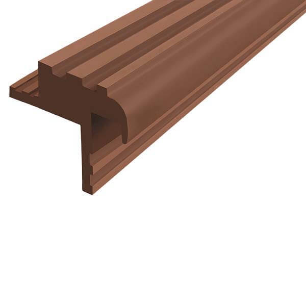 Закладной противоскользящий профиль «Безопасный Шаг Премиум» (БШ-30) коричневый