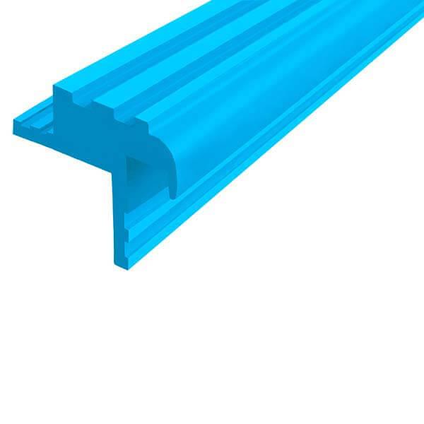 Закладной противоскользящий профиль «Безопасный Шаг Премиум» (БШ-30) голубой
