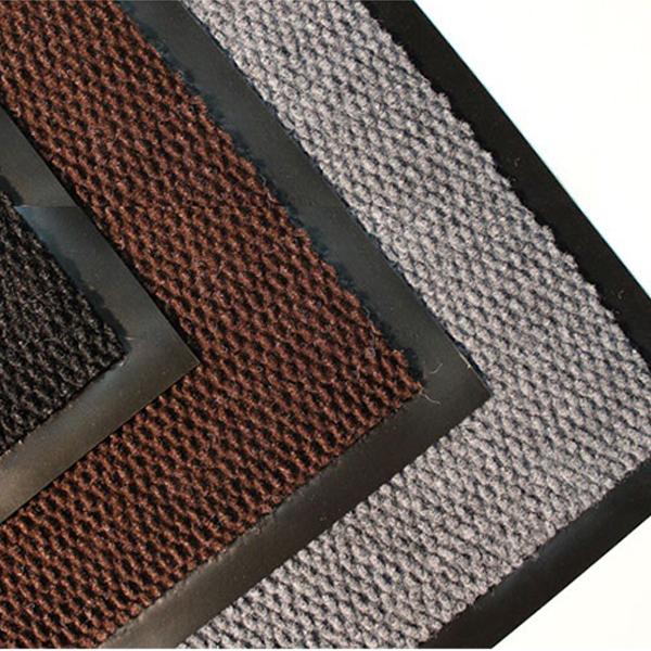 Грязезащитный ворсовый коврик Флап 1800x1200 мм серый