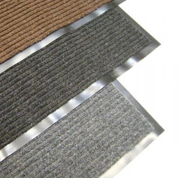Грязезащитный ворсовый коврик Line 1200×800 мм черный
