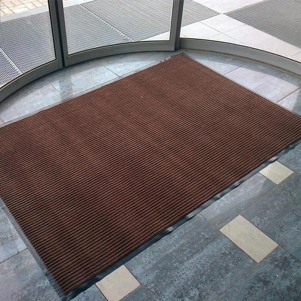 Грязезащитный ворсовый коврик Line 900х1500 мм коричневый