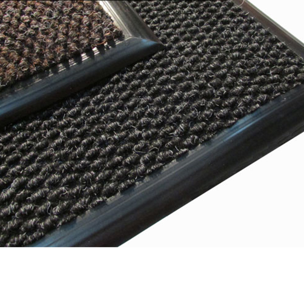 Грязезащитный ворсовый коврик Райс черный