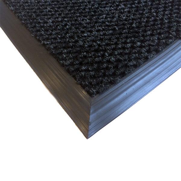 Грязезащитный ворсовый коврик Райс 9,2 мм черный