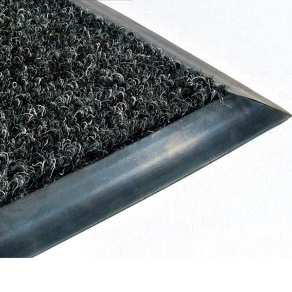 Грязезащитный ворсовый коврик Цикада 13 мм черный