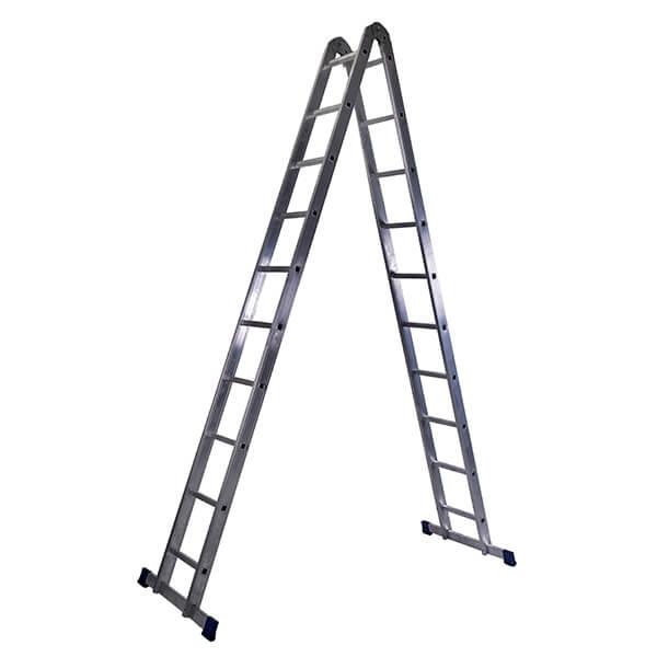Лестница алюминиевая трансформер 2х10 ступеней