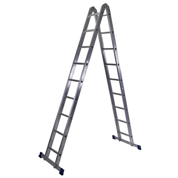 Лестница алюминиевая трансформер 2х9 ступеней