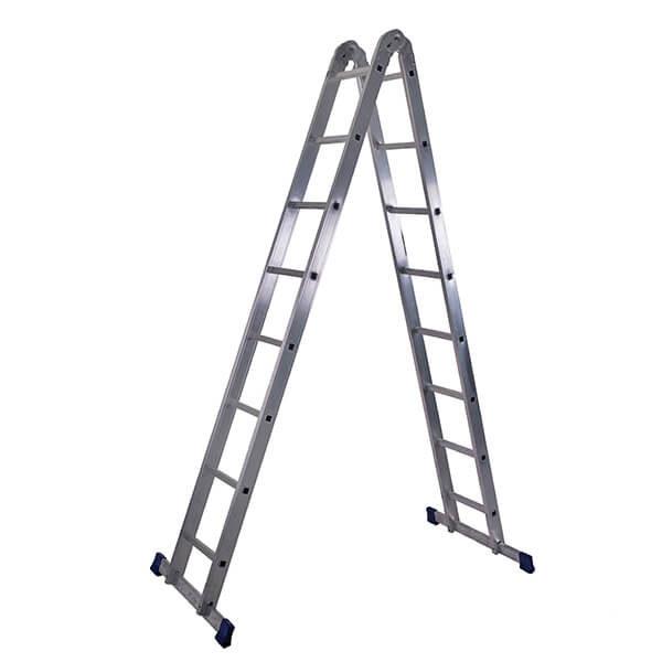 Лестница алюминиевая трансформер 2х8 ступеней