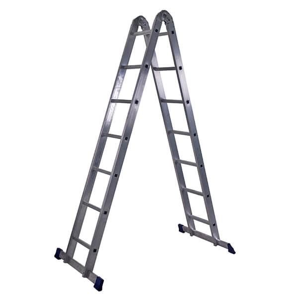 Лестница алюминиевая трансформер 2х7 ступеней