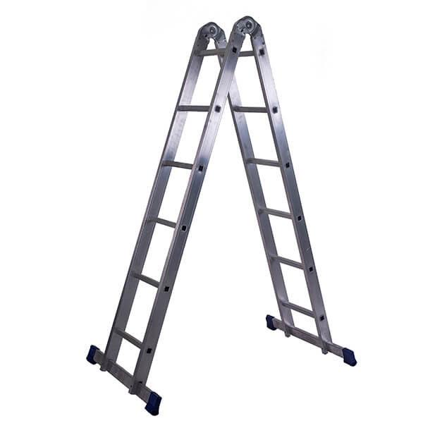 Лестница алюминиевая трансформер 2х6 ступеней
