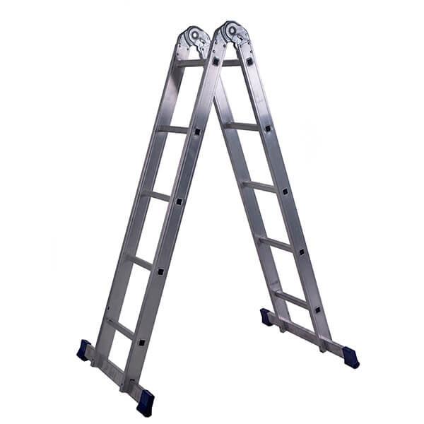 Лестница алюминиевая трансформер 2х5 ступеней