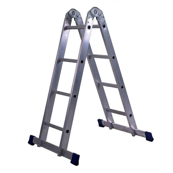 Лестница алюминиевая трансформер 2х4 ступеней