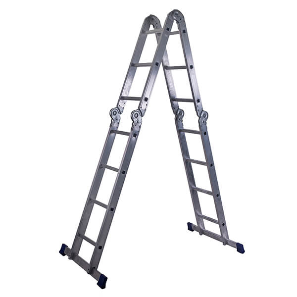 Лестница алюминиевая трансформер 2х3+2х4 ступеней