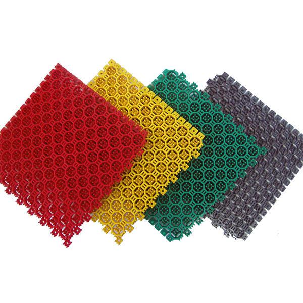 Грязезащитные модульные напольные покрытия СитиПласт 250x250x16 зеленый