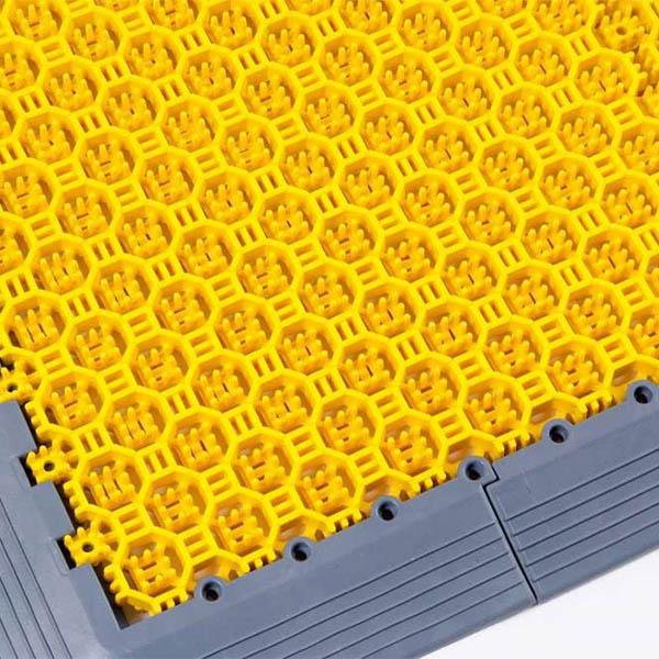 Грязезащитные модульные напольные покрытия СитиПласт 250x250x16 желтый