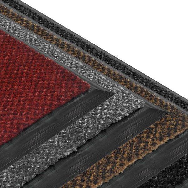 Грязезащитный ворсовый коврик Бриз 1000x1500 серый