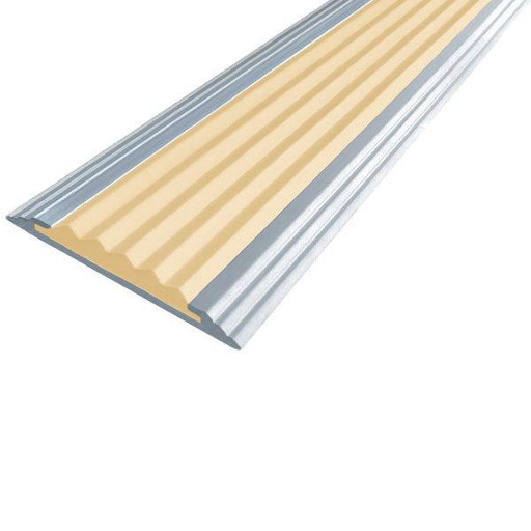 Противоскользящая алюминиевая самоклеющаяся полоса Стандарт 40 мм 2,7 м бежевый