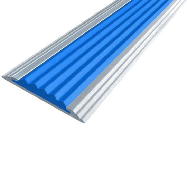 Противоскользящая алюминиевая самоклеющаяся полоса Стандарт 40 мм 1,8 м синий