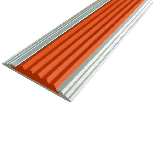 Противоскользящая алюминиевая самоклеющаяся полоса Стандарт 40 мм 1,8 м оранжевый