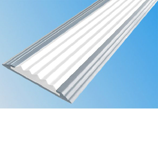 Противоскользящая алюминиевая самоклеющаяся полоса Стандарт 40 мм 1,8 м белый