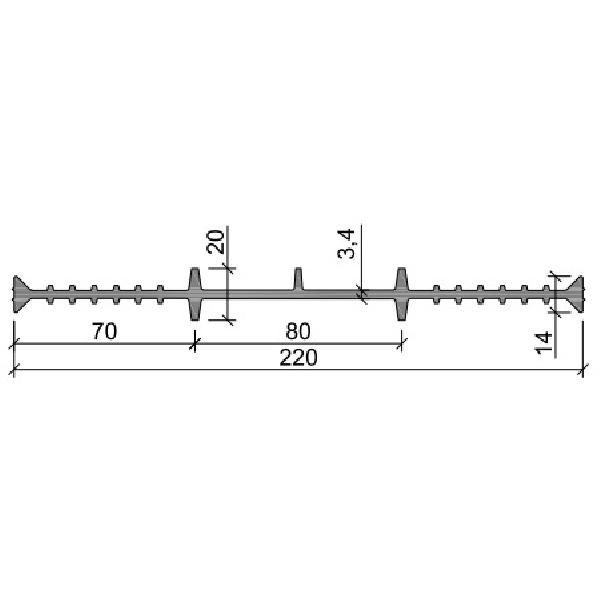 Гидрошпонка ПВХ ХВ-220