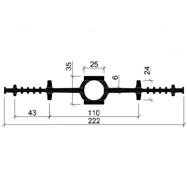 Гидрошпонка EPDM ДВ-220/25