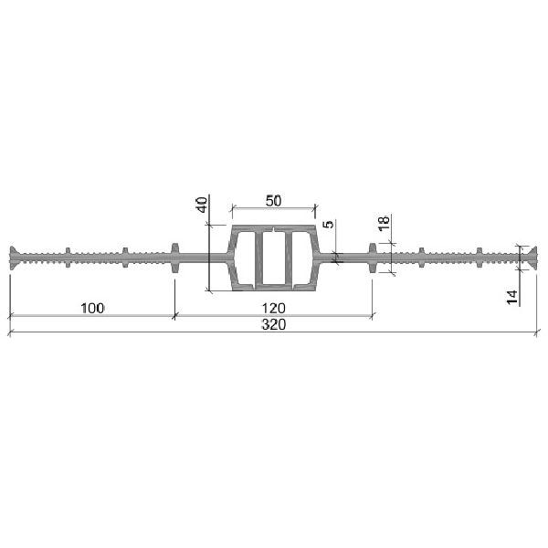Гидрошпонка ПВХ ДВ-320/50