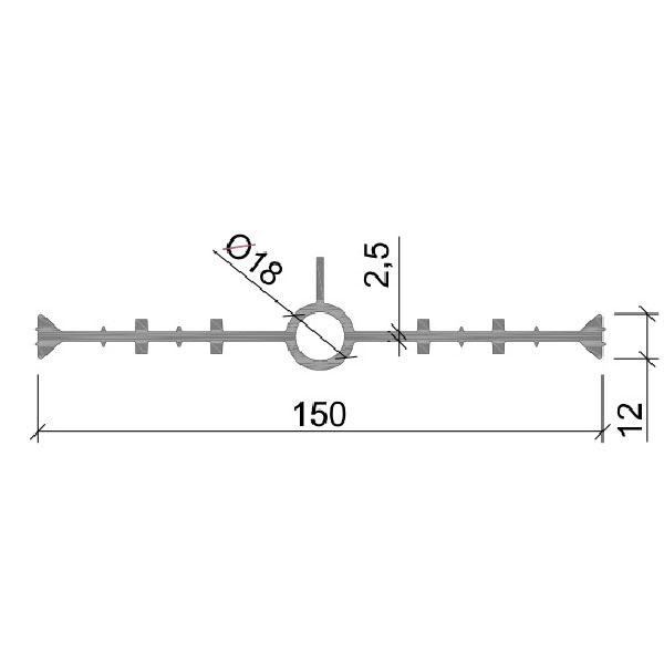 Гидрошпонка ПВХ ДВ-150/18