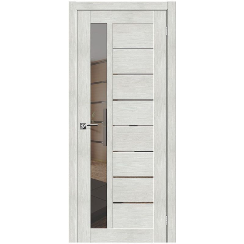 Межкомнатная дверь Порта-27, Bianco Veralinga, Mirox Grey