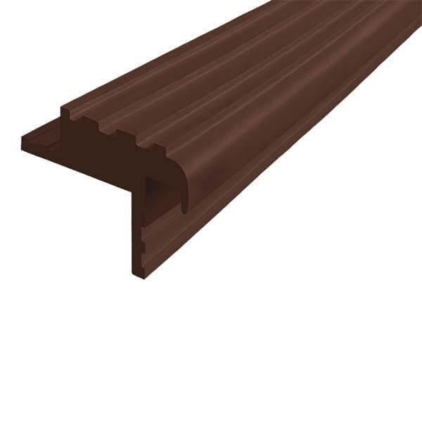 Закладной противоскользящий профиль «Безопасный Шаг Премиум» (БШ-40) темно-коричневый