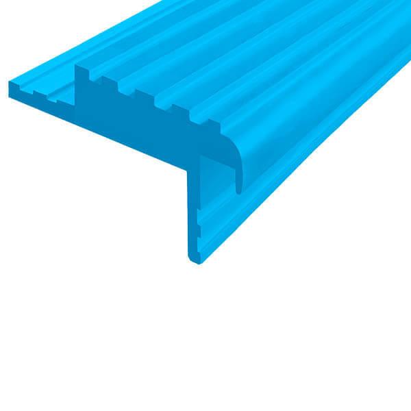 Закладной противоскользящий профиль «Безопасный Шаг Премиум» (БШ-50) голубой