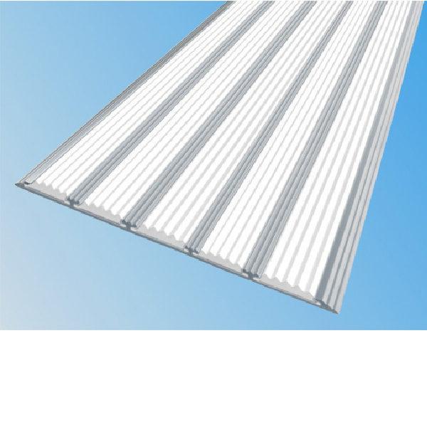 Противоскользящая алюминиевая полоса с пятью вставками 162 мм/6 мм 3,0 м белый