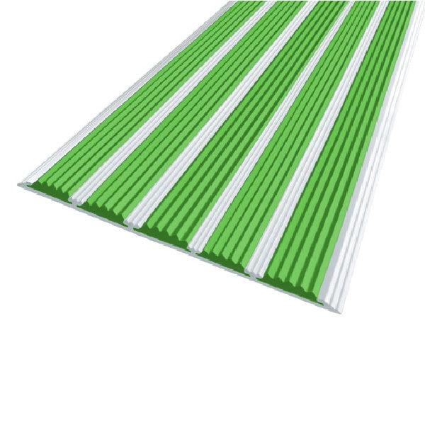 Противоскользящая алюминиевая полоса с пятью вставками 162 мм/6 мм 2,0 м зеленый
