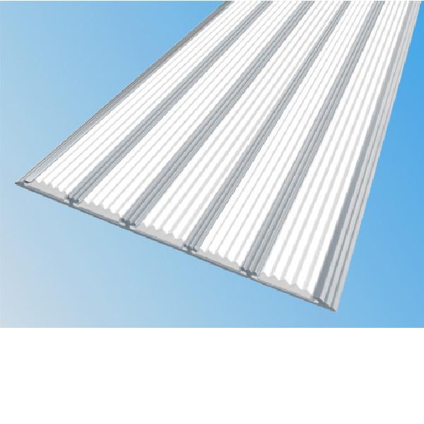 Противоскользящая алюминиевая полоса с пятью вставками 162 мм/6 мм 1,33 м белый