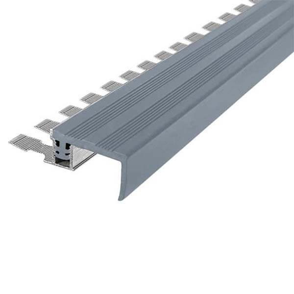 Закладной противоскользящий алюминиевый профиль FlexStep 2,7 м 25 мм/18 мм серый