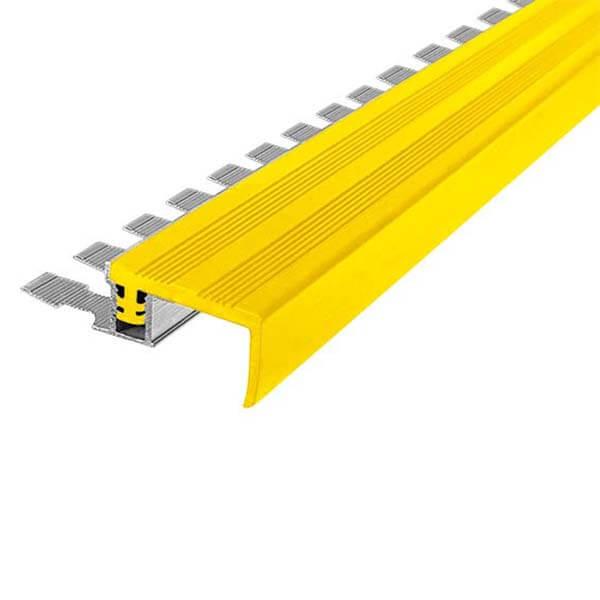 Закладной противоскользящий алюминиевый профиль FlexStep 2,7 м 25 мм/18 мм желтый