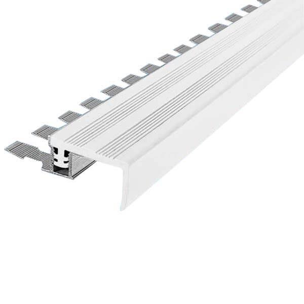Закладной противоскользящий алюминиевый профиль FlexStep 2,7 м 25 мм/18 мм белый