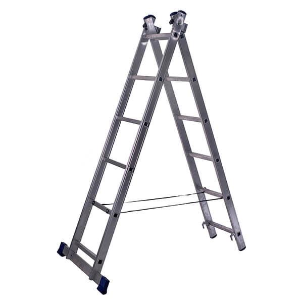 Лестница алюминиевая двухсекционная универсальная 6 ступеней