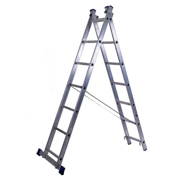 Лестница алюминиевая двухсекционная универсальная 7 ступеней
