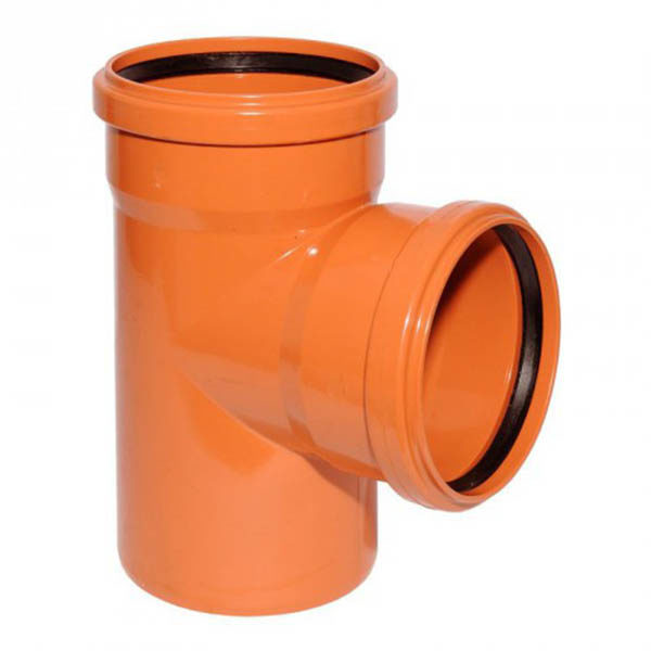 Тройник для трубы наружной канализации 110/110 мм, 87˚