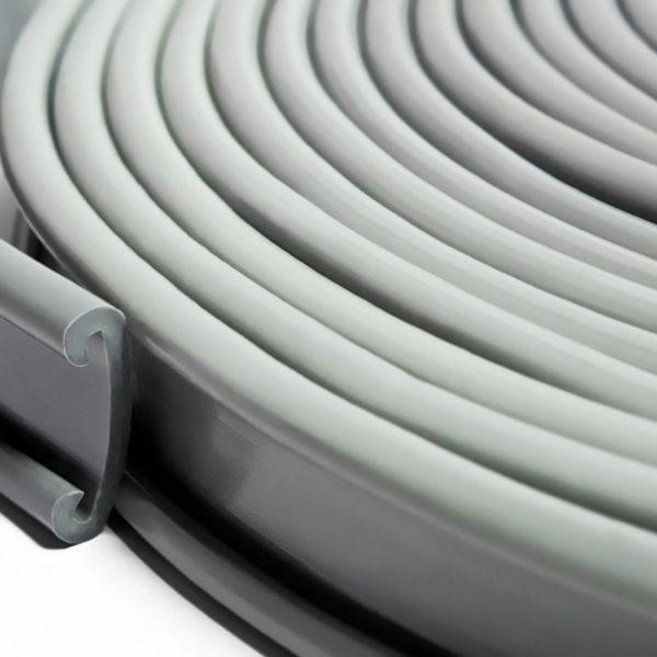 Поручни ПВХ для перил 50x4мм, серый, 21м