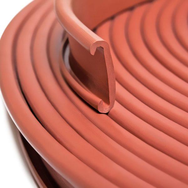 Поручни ПВХ для перил 40×4мм, коричневый, 21м