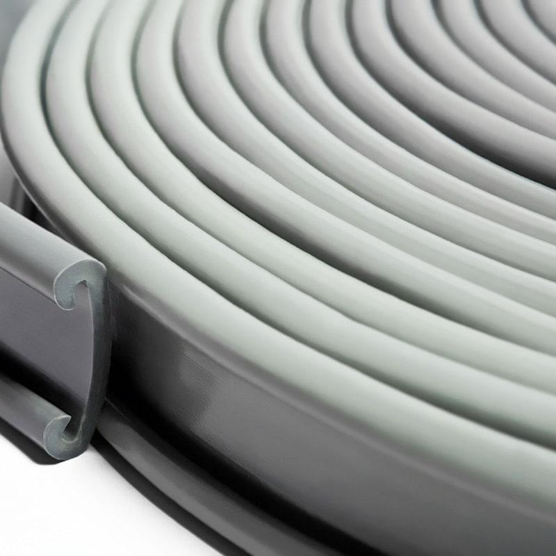 Поручни ПВХ для перил 40×4мм, серый, 21м