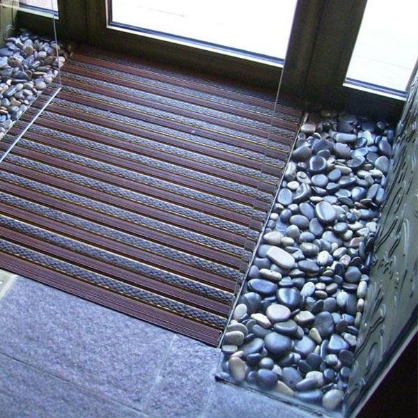 Придверная грязезащитная решетка Сити Резина + Текстиль