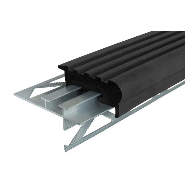 Закладной противоскользящий профиль «Уверенный Шаг» (УШ-50) 2,4 м черный