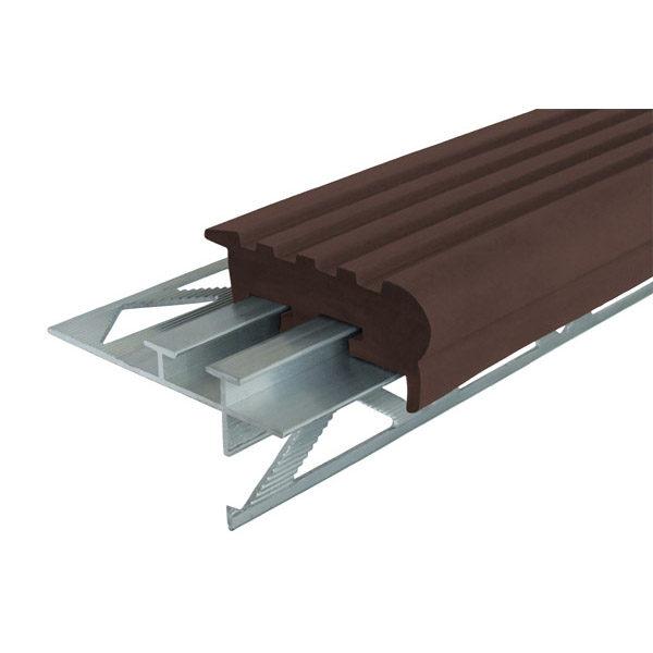 """Закладной противоскользящий профиль """"Уверенный Шаг"""" (УШ-50) 2,4 м темно-коричневый"""