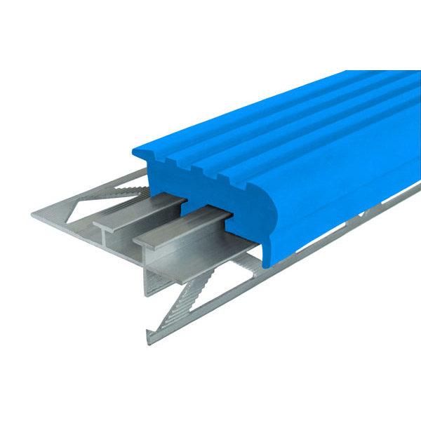 """Закладной противоскользящий профиль """"Уверенный Шаг"""" (УШ-50) 2,4 м синий"""